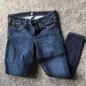 Gap dark denim skinny jeans women's 27